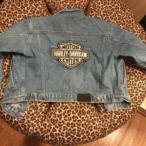 Vintage Harley Davidson denim embroidered medium M